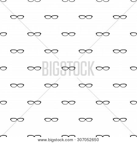Astigmatic Spectacles Pattern Seamless Vector Repeat Geometric For Any Web Design