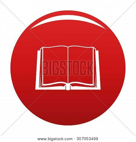 Book Deployed Icon. Simple Illustration Of Book Deployed Vector Icon For Any Design Red