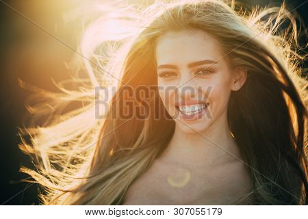Sexy Girl. Sensual Woman. Makeup And Hair Style. Trendy Look. Beauty And Fashion. Long Healthy Hair.