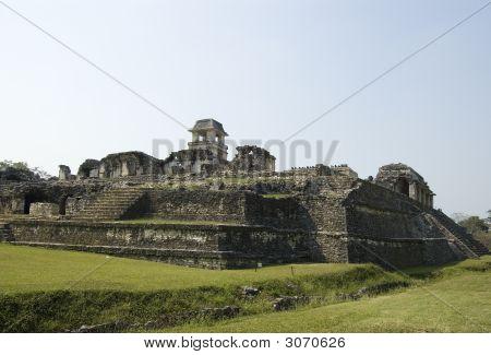 Castle At Palenque Ruins, Mexico