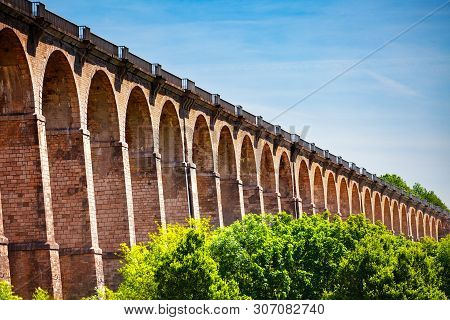 Arched Abutments Of Chaumont Viaduct In France