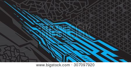 Car Wrap Design Vector, Truck And Cargo Van Decal. Graphic Abstract Stripe Racing Background Designs