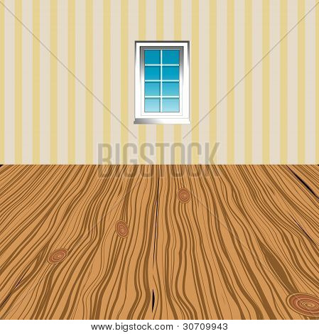 Illustration Of A Window In A Room