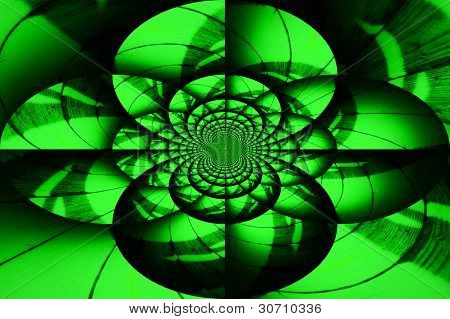 Abstract backround green and black swirls