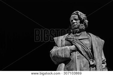 Daniele Manin, Italian And Venetian Patriot During The Revolt Against Austrian Empire In 1848. Bronz