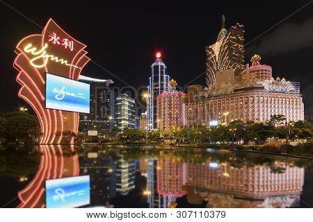 Macau, China - June 30, 2016: Grand Casino Lisboa In Macau. Casino Lisboa Is One Of The Most Well Kn