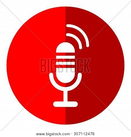 Save Download Preview Microphone Icon Isolated On White Background. Microphone Icon In Trendy Design