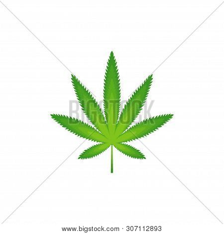 Cannabis leaf gradient vector design isolated white background, cannabis leaf icon. Outline leaf of cannabis, flat black and green leaf. Marijuana sign. Marijuana logo, line style. Template for medical cannabis or cannabis oil. Vector illustration
