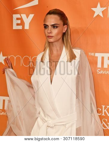 NEW YORK - JUN 17: Model Cara Delevingne attends the 2019 TrevorLIVE New York Gala at Cipriani Wall Street on June 17, 2019 in New York City.