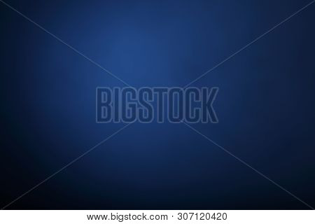 Blue Gray Abstract Background, The Walls Of The Studio Is Illuminated By A Constant Light