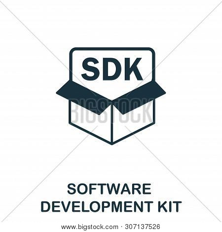 Software Development Kit Vector Icon Symbol. Creative Sign From Icons Collection. Filled Flat Softwa