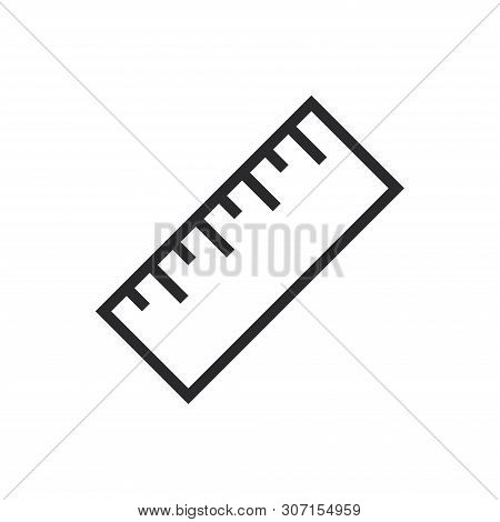 Ruler Icon Isolated On White Background. Ruler Icon In Trendy Design Style For Web Site And Mobile A
