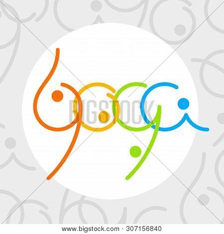 Yoga Logo - Design Template. Health Care, Beauty, Spa, Relax, Meditation, Nirvana Concept Emblem.