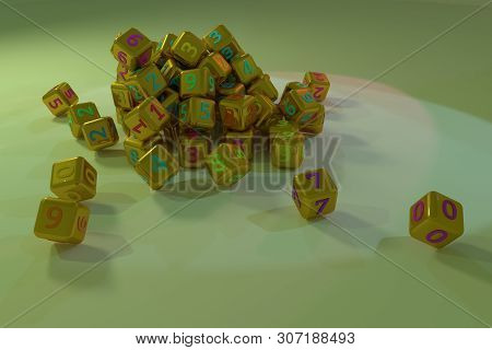 Background Abstract Cgi Geometric, Bunch Of Number Character Symbol Or Sign For Design, Graphic Reso