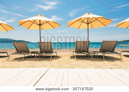 Travel Vacation Sea Destination. Perfect Beach Landscape. Travel Vacations Destination.travel Concep