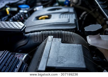 Motor Car Background, Components And Spare Parts For Cars