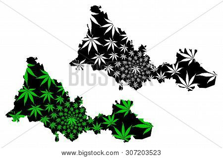 Orenburg Oblast (russia, Subjects Of The Russian Federation, Oblasts Of Russia) Map Is Designed Cann