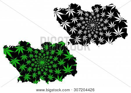 Penza Oblast (russia, Subjects Of The Russian Federation, Oblasts Of Russia) Map Is Designed Cannabi