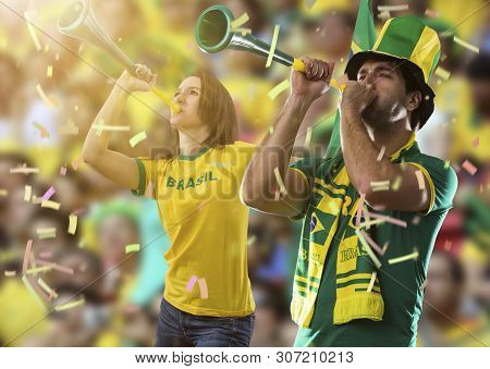 Brazilian Couple Celebrating