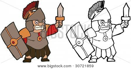 cartoon roman soldier (raster version)