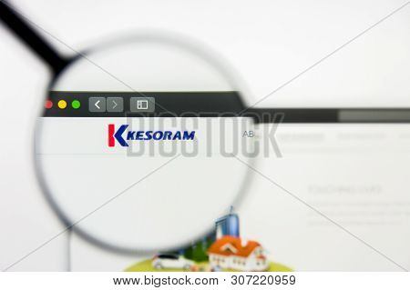 New York, New York State, Usa - 18 June 2019: Illustrative Editorial Of Kesoram Industries Website H