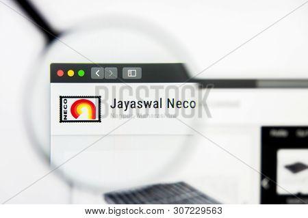 New York, New York State, Usa - 19 June 2019: Illustrative Editorial Of Jayaswal Neco Industries Web