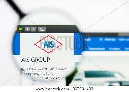 New York, New York State, Usa - 19 June 2019: Illustrative Editorial Of Asahi India Glass Website Ho