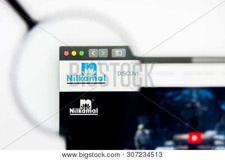 New York, New York State, Usa - 19 June 2019: Illustrative Editorial Of Nilkamal Website Homepage. N