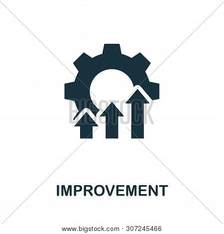 Improvement Vector Icon Symbol. Creative Sign From Quality Control Icons Collection. Filled Flat Imp
