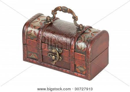 Old Jewelry Box With Lock