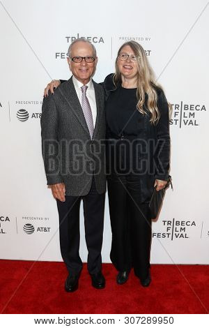 NEW YORK-APR 26: Producers Lou Pitt (L) and Judy Tossell attend 'The Exception' screening during the 2017 TriBeCa Film Festival at BMCC Tribeca PAC on April 26, 2017 in New York City.