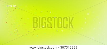 Breezy Space And Signs Confetti. Background Texture. Signs Colorific Illustration. Remarkable Ultra
