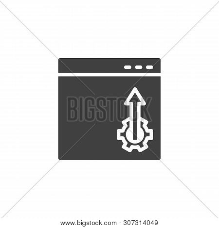 Website optimization vector icon. Webpage configuration filled flat sign for mobile concept and web design. Browser settings glyph icon. Symbol, logo illustration. Vector graphics poster