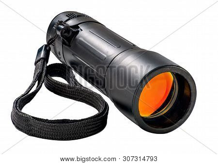 Military Monocular Isolated On A White Background