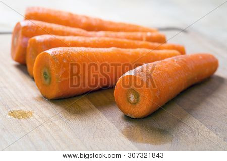 Carrot On Cutting Board