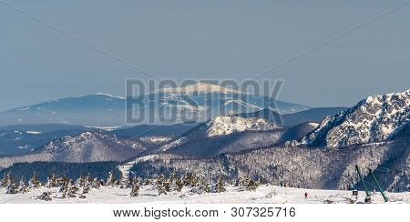 View To Babia Hora Hill From Martinske Hole In Mala Fatra Mountains In Slovakia During Beautiful Win