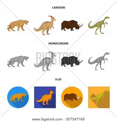 Vector Illustration Of Animal And Character Symbol. Collection Of Animal And Ancient Stock Symbol Fo