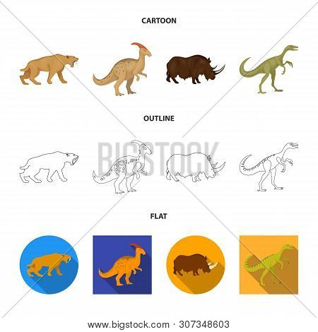 Vector Illustration Of Animal And Character Icon. Collection Of Animal And Ancient Stock Vector Illu