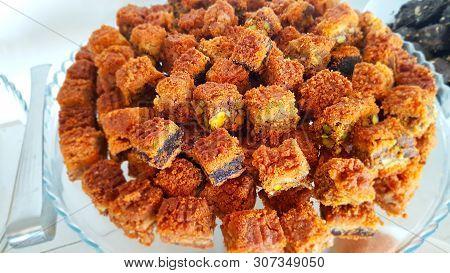 Lebanese Sweets. Lebanese Cuisine. Dishes Of Lebanese Cuisine. Lebanese Food. Sidon, Lebanon