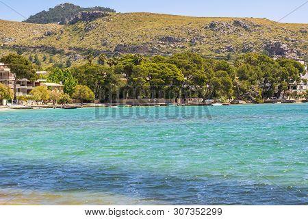 Mallorca, Spain - May 6, 2019: Port De Pollenca (puerto Pollensa), A Popular Family Resort In The No