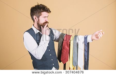 Perfect Necktie. Select Tie That Has Colors Of Your Suit And Shirt As Well As At Least One Other Col