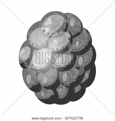 Isolated Object Of Egg And Dragon Symbol. Set Of Egg And Husk Stock Symbol For Web.