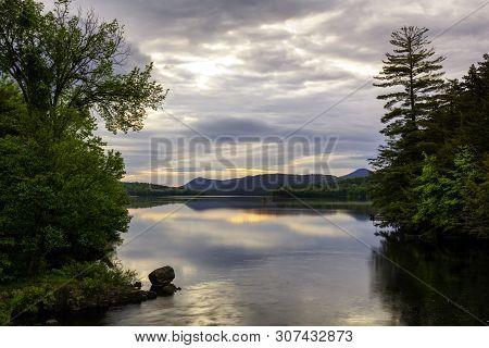 First Light On Indian Lake Adirondacks New York