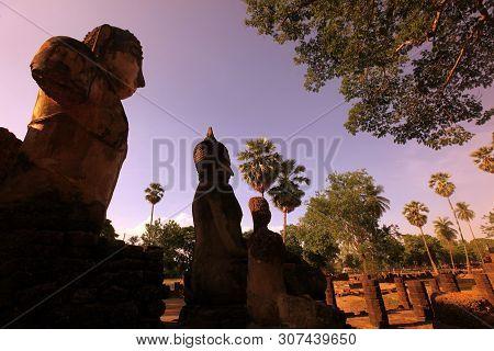 Asia Thailand Sukhothai Temple Wat