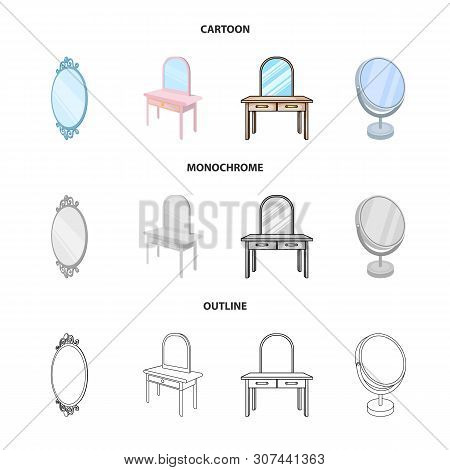Isolated Object Of Imagery And Decorative Icon. Set Of Imagery And Silver Stock Vector Illustration.