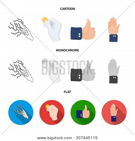 Isolated Object Of Animated And Thumb Icon. Collection Of Animated And Gesture Vector Icon For Stock