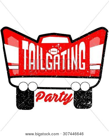 Tailgating Party Is A Graphic Dedicated To An American Cultural Experience Of Food, Party, And Frien