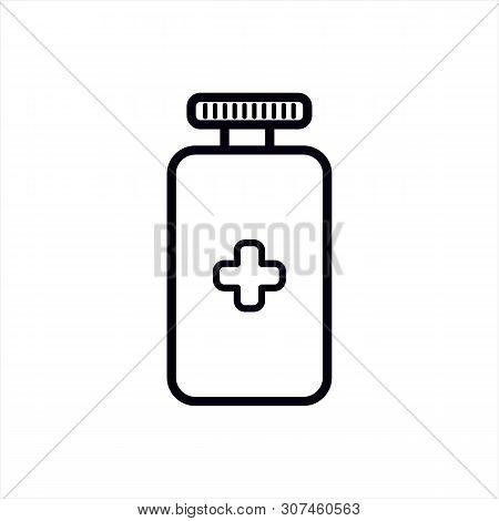 Medicine Icon Vector Icon On White Background. Medicine Icon Modern Icon For Graphic And Web Design.