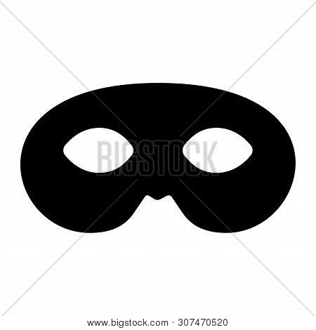 Mask Icon Isolated On White Background. Anonymous Mask Icon Modern Synmbol For Graphic And Web Desig