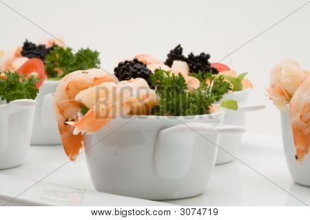 Prawn Appetizer With Caviar